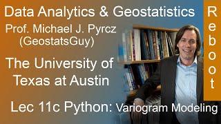 11c Python Data Analytics Reboot: Variogram Modeling