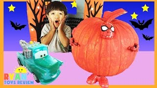 SURPRISE TOYS Halloween GIANT PUMPKIN Spiderman And Disney Cars