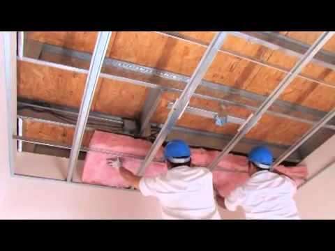 Como fazer um teto de Drywall Panel Rey