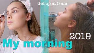 МОЁ УТРО 2019 || как вставать в 5 утра??