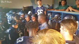 Marcus Lattimore gives pregame before first game at Heathwood Hall