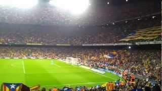preview picture of video 'Clamor Independentista en el Nou Camp, F.C. Barcelona - Real Madrid'