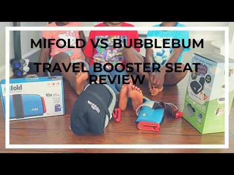 Mifold vs Bubblebum – Travel Booster Seat Review