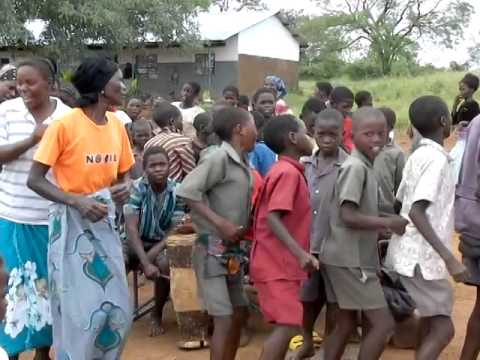 Dancing at Siamasimbi School, Kenya