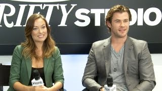 Chris Hemsworth and Olivia Wilde Rush Interview - TIFF 2013