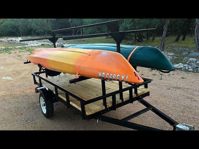 Building a Kayak Trailer - Hauls Four Kayaks