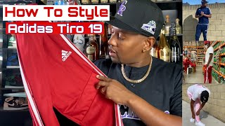 How To Style Adidas Tiro 19 pants Collection Haul Review and 3 Colors Red, Blue and Pink
