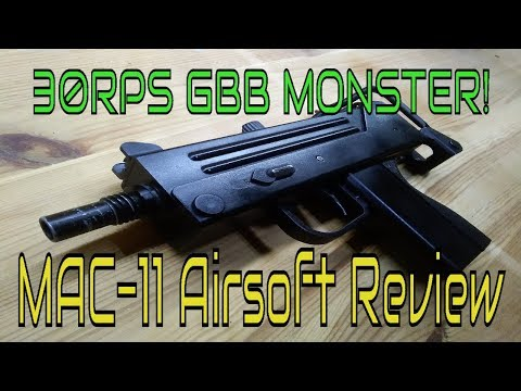 Well G-11 Airsoft MAC-11 GBB with silencer (for sale