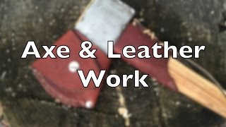 Axe & Leather - Making a Collar and Mask for my Axe