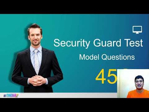 Security guard test questions and answers new - YouTube
