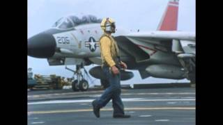 Aircraft Carrier Flight Deck In Slow Motion - Beautiful