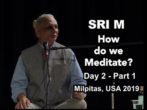 Sri M - 'How do we Meditate?' - Public Satsang - Day 2 Part 1, Milpitas USA 2019