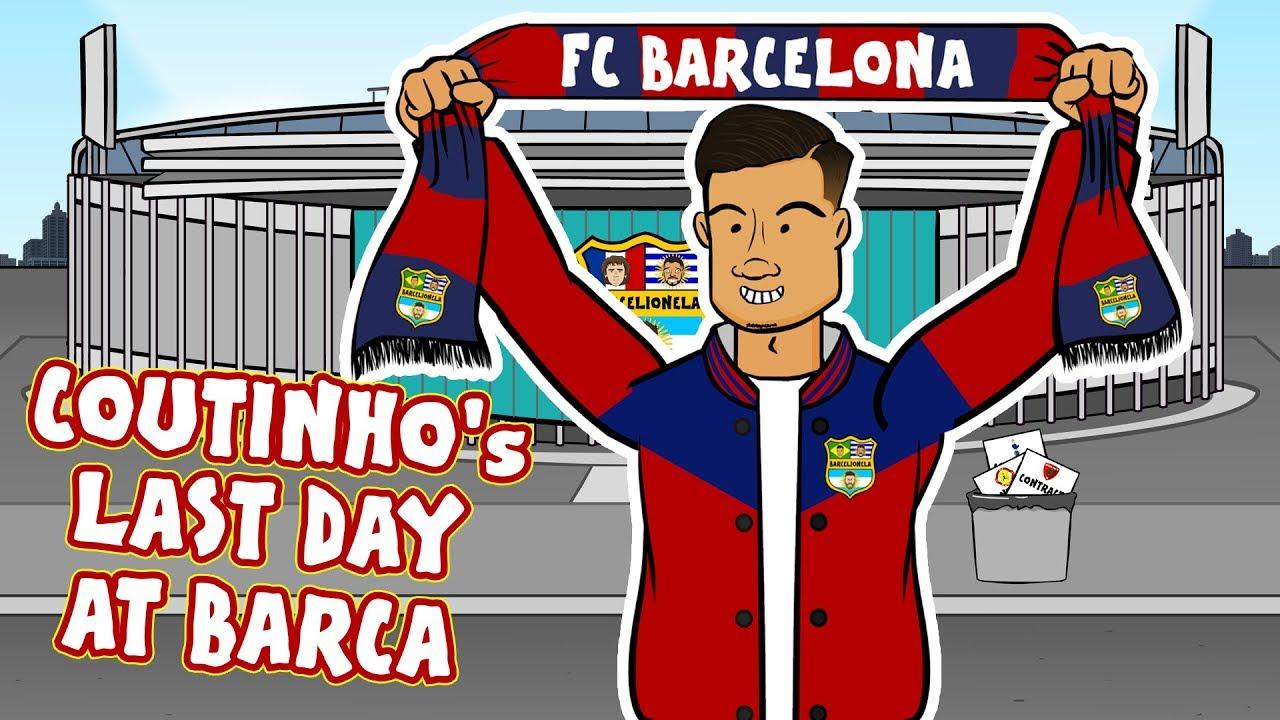 Coutinho's Last Day at Barcelona! (Coutinho Bayern Munich Loan Parody)