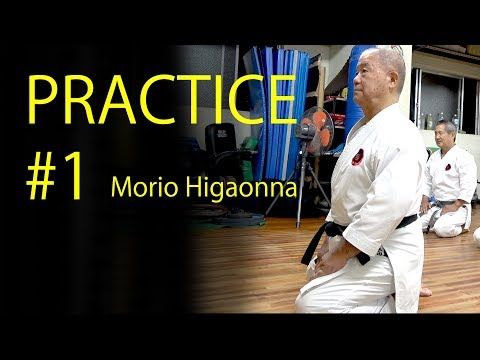 Morio Higaonna's Karate practice #1  | STRECHING | 東恩納盛夫先生の鍛錬その1
