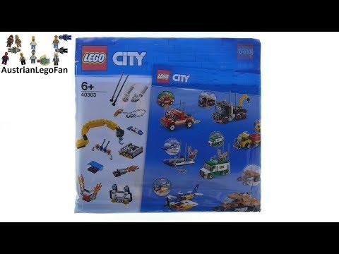 Vidéo LEGO City 40303 : Ensemble de véhicules Boost My City (Polybag)