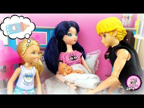 Marinette y Adrien tienen otro bebé: el nacimiento de Hugo y Piper🐞 Serie con muñecas de Ladybug