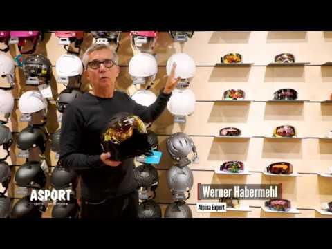 ASPORT - Werner Habermehl von Alpina über SkiHelme mit fixierter Brille