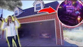 OUR ATTIC CAUGHT ON FIRE PRANK ON MOM!!