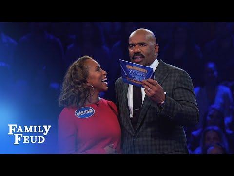 The Harveys play Fast Money! | Celebrity Family Feud