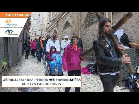 Jérusalem : des personnes handicapées sur les pas du Christ