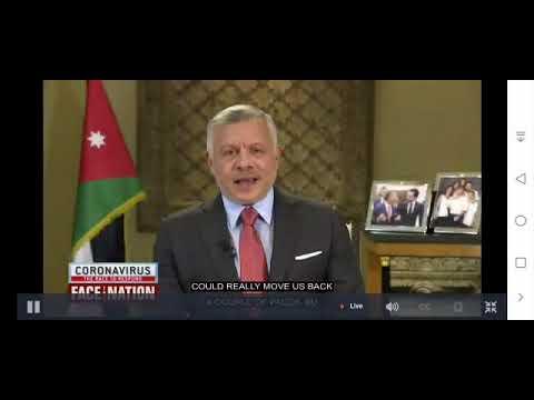 الملك في مقابلة متلفزة على قناة CBSNews الأميركية