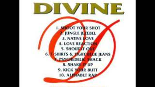 Divine-T Shirts And Tight Blue Jeans