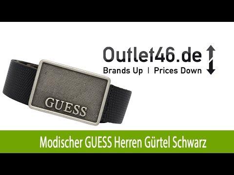 Neuer GUESS Herren Gürtel kaufen Schwarz | Outlet46.de