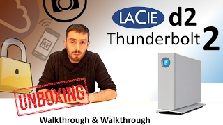 LaCie d2 Thunderbolt2 4TB External Drive with USB 3.0 - Unboxing -  STEX4000200 LAC9000493EK