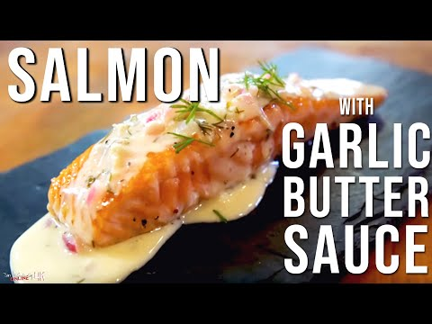 Salmon with Garlic Butter Sauce by SAM THE COOKING GUY