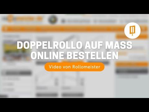Doppelrollo auf Maß günstig online bestellen und kaufen - Video von Rollomeister