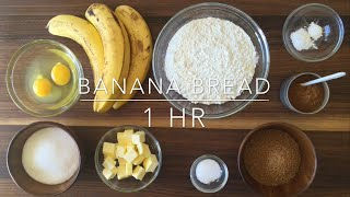 Delicious Moist and Chewy Banana Bread Recipe