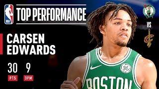 Carsen Edwards, 8 3-pointer i 3-quater   2019 NBA Preseason