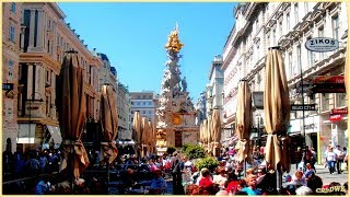 preview picture of video 'VIENNA-WIEN-CITY-CENTER: Graben, Kohlmarkt,Hoher Markt,Stephansdom'
