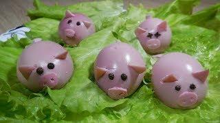 ✅Закуска Фаршированные яйца «свинки»