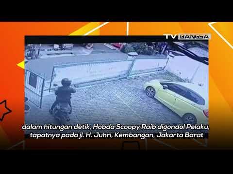 Aksi Pencuri Motor di Jakarta Barat Tertangkap CCTV