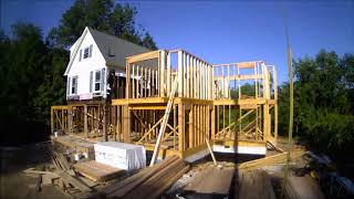 Custom Home Construction - Time Lapse Of Home Addition Onto Existing Structure