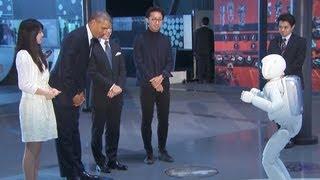 President Obama meets Japanese Robot