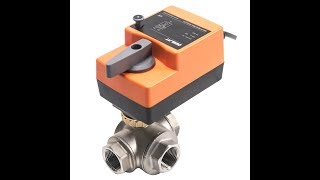 Fast Running Control Ball Valve - 3-Way DC/AC, Stainless Steel