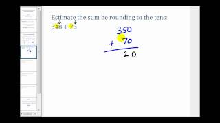 Estimating Addition and Subtraction Problems Involving Whole Numbers