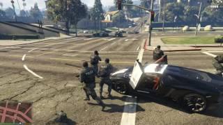GTA 5 Mods #40 - Police Lamborghini Aventador vs SWAT