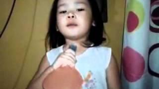 Brianah singing Kunin mo na ang lahat sa akin..