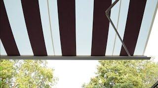 Zonneschermdoek vervangen van een elektrisch bediend zonnescherm