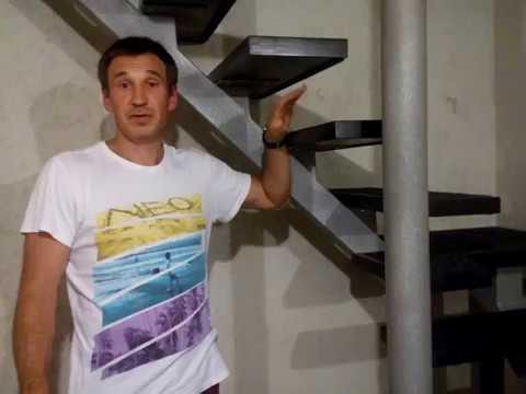 Очень простая лестница домой на металокаркасе .