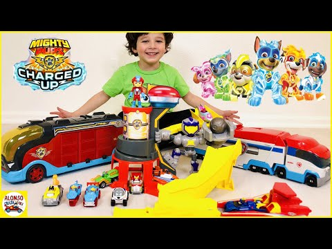 Paw Patrol Mighty Pups Charged Up True Metal Mighty Meteor Die Cast Track Set