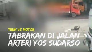Laka Lantas di Jalan Arteri Yos Sudarso Semarang, Truk dan Motor Bertabrakan