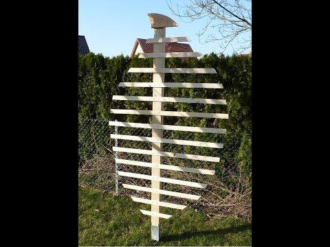 1. Teil: Rankgitter oder Rankhilfe, Spalier für den Garten einfach selber machen