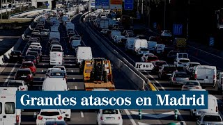 """Almeida pide """"perdón"""" y anuncia la colocación de """"grandes grúas"""" para reducir los atascos en Madrid"""
