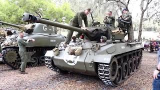 US WWII tanks up close! M18 Hellcat, M10 tank destroyer, M4 sherman