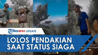 Viral Video Sekelompok Pemuda Pamer Mendaki Gunung Merapi, Lolos Pendakian Saat Status Masih Siaga