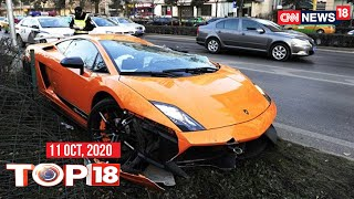 One killed In Hyderabad as speeding Ferrari Rams Into Him | Top 18 News | CNN News18 - Download this Video in MP3, M4A, WEBM, MP4, 3GP